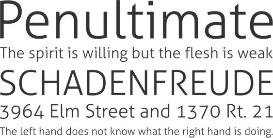 Aller-free font