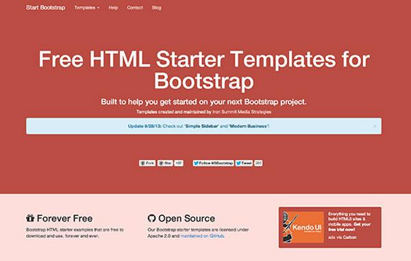 bootstrap-starter-templates