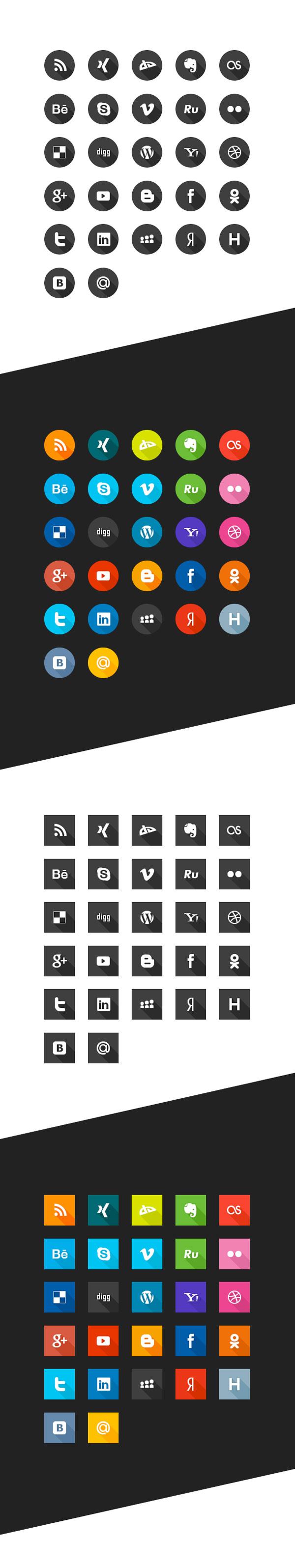 free-social-icon-sets