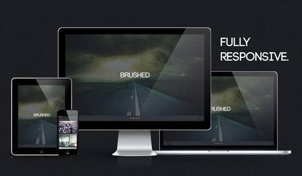 Brushed-free-one-page-responsive-template