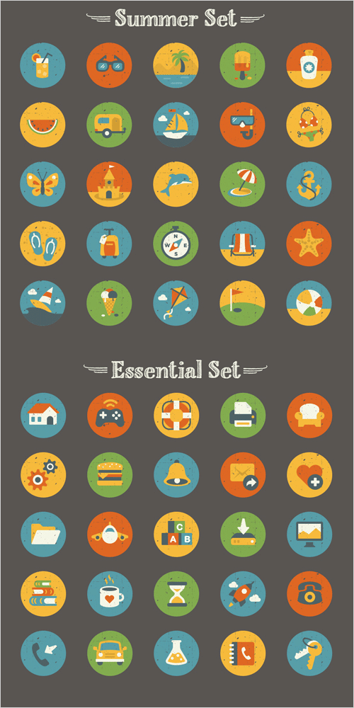 50-free-summer-icons