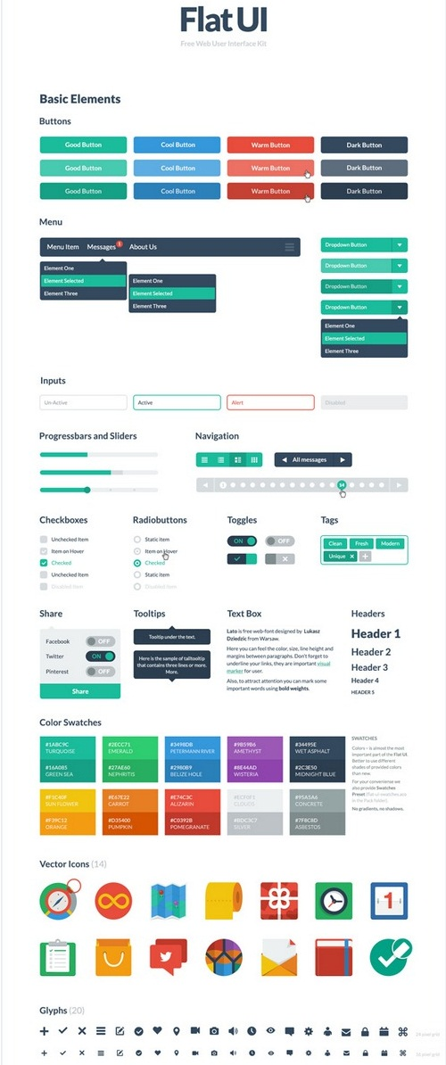 Free-PSD-HTML-UI-Elements-Kit