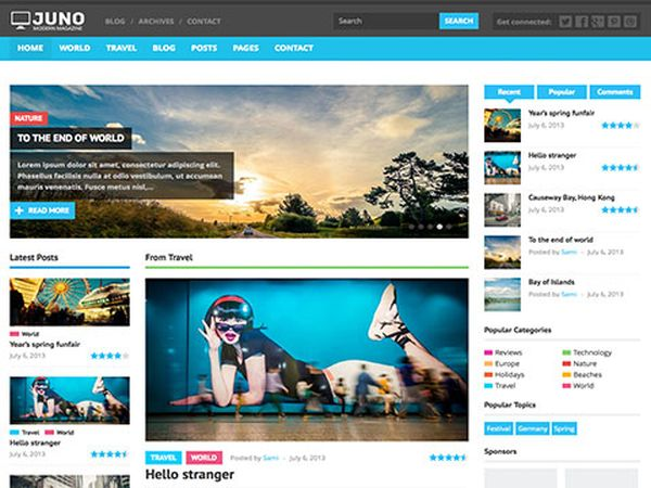 Juno-Free-WordPress-Theme