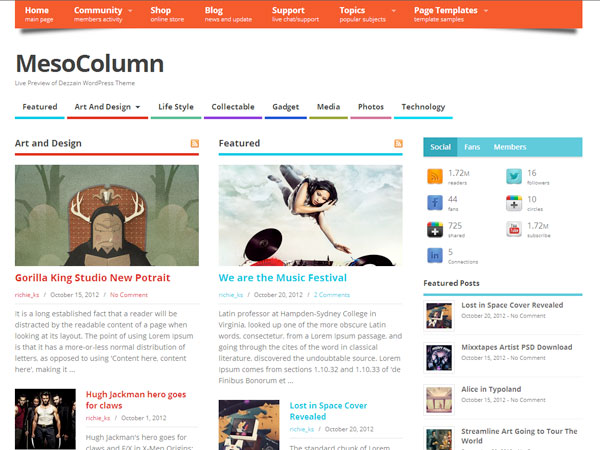 MesoColumn_free_wordpress_theme