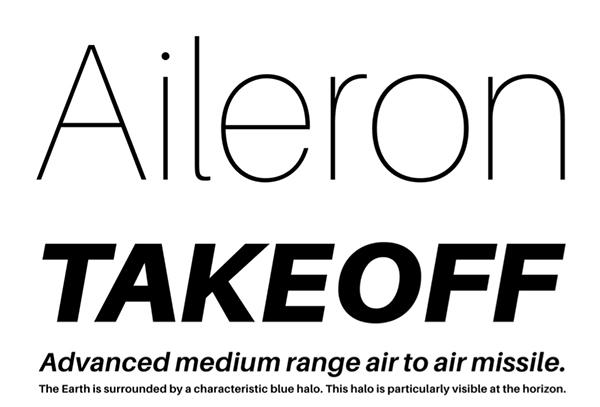 aileron-free-font