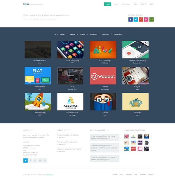 calm-free-responsive-html-template