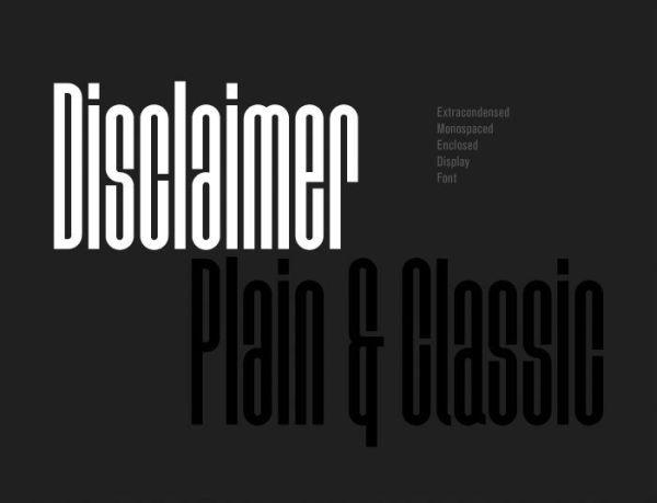 disclaimer-free-font
