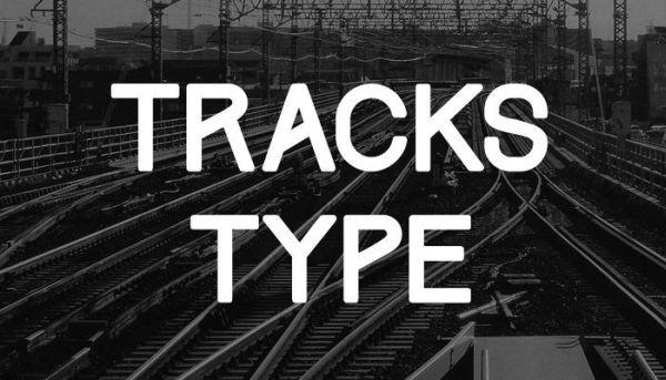 tracks-type-free-font