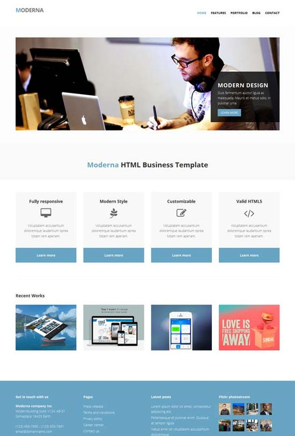 Free-Bootstrap-template-Moderna