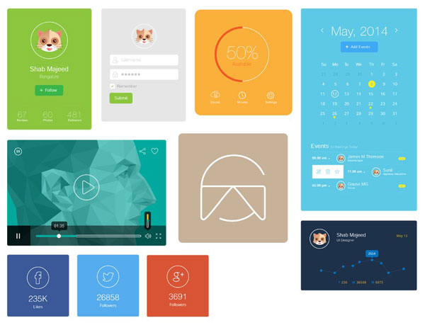 Free-Flat-UI-Design-Elements