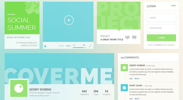 Social-summer-ui-kit