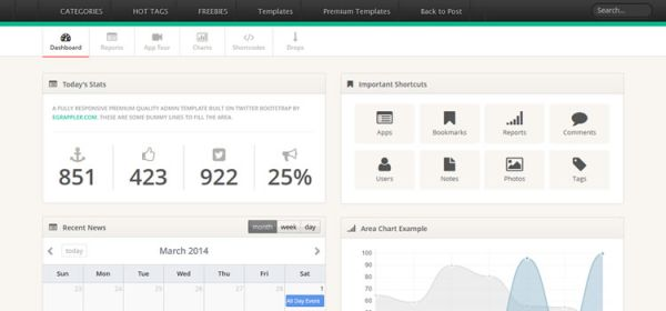 TemplateVamp-Free Twitter Bootstrap Admin Template
