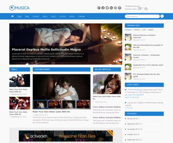 free WordPress theme Musica