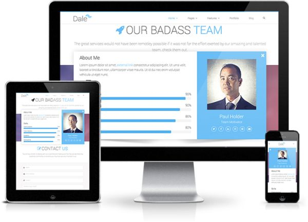 free bootstrap3 template dale