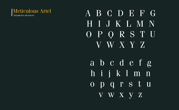 Free Font Meticulous-Ariel