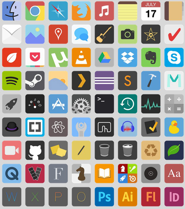 free flat icons for OS