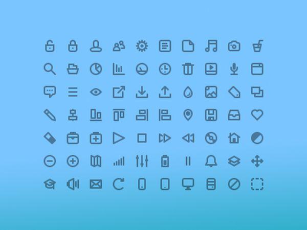 70 Free line icons