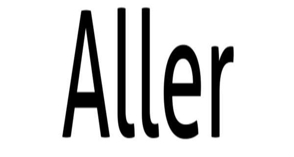 Aller free font