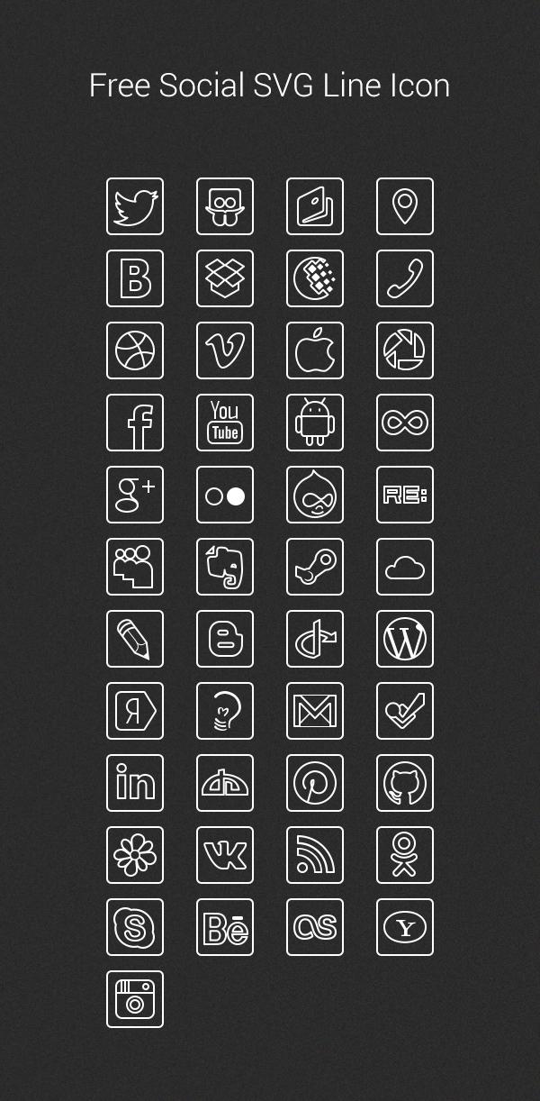 Free-Social-SVG-Line-Icon