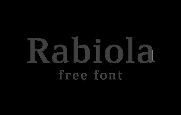 Rabiola free font