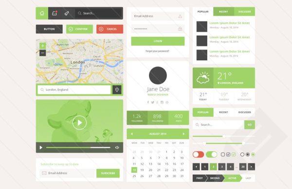 Veridant- free UI Kit
