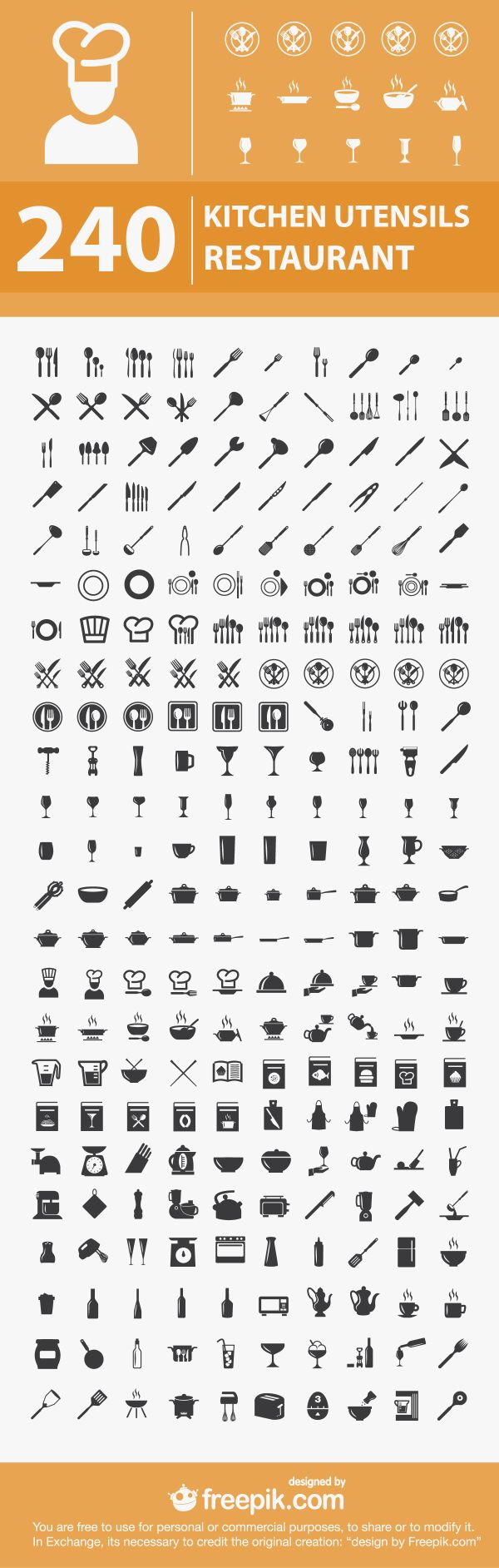 free kitchen and restaurant icons