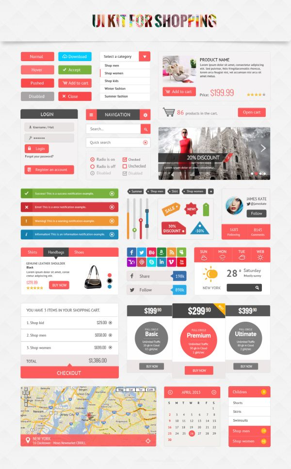 free shoping ui kit