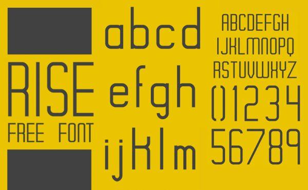 rise free font